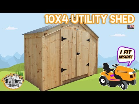 DIY – Easily Build this Utility Storage Shed Yourself (Pre Cut Kit or Fully Assembled)