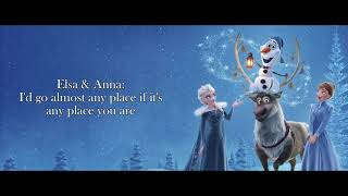 When We're Together Instrumental Sing with Anna - Olaf's Frozen Adventure | Winnie Su (Cover)