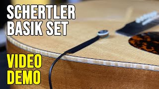 Schertler Basik Set on Acoustic & Classical Guitar Video Demo