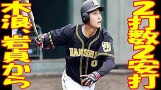 阪神ルーキー・木浪聖也、今日もシート打撃で2打数2安打と猛アピール