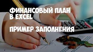 Финансовый план в Excel. Пример заполнения.