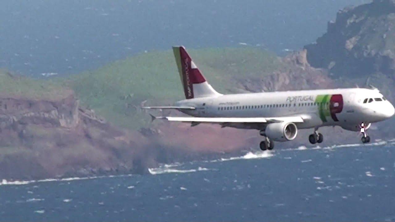 Aproximacao Aterragem Aeroporto Madeira Tap Portugal Airbus
