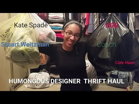 HUMONGOUS Designer Thrift Holiday Haul: Coach, Cole Haan, Kate Spade