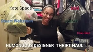 humongous designer thrift holiday haul coach cole haan kate spade