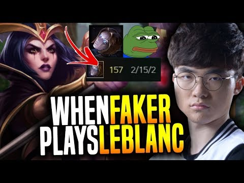 That's What Happen When you Give to Faker His Main Leblanc! | SKT T1 Replays