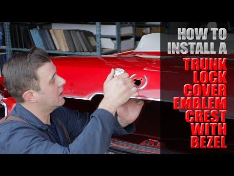 How To Install a Trunk Lock Emblem On A 1964 Cadillac Eldorado