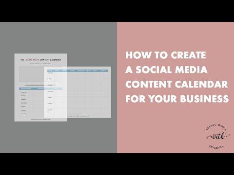 How to Create a Social Media Content Calendar for Your Business (Plus a FREE Calendar Template)