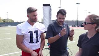 Behind the Scenes with New England Patriot's Receiver Julian Edelman