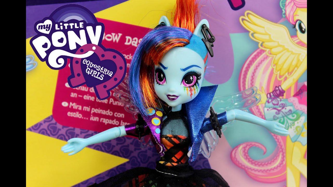 Rainbow Dash Rockin Hairstyle Doll Rainbow Rocks Equestria - Rockin hairstyles dolls
