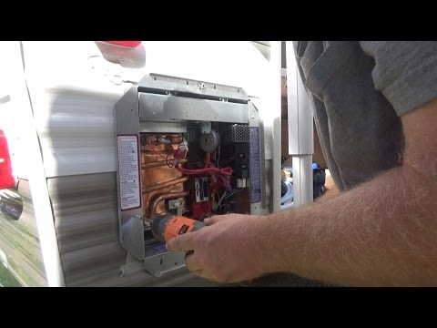 Installation of a tankless water heater in our travel trailer