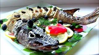 Фаршированная Щука запеченная в духовке / Stuffed Fish Recipe