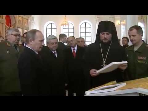 Путин ознакомился с вооружением 102 й российской военной базы в Гюмри