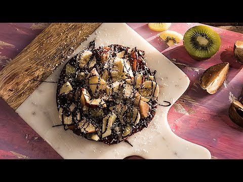 Chocolate Paratha Pizza | Chocolate Pizza With Fruit Toppings | Chocolate Recipes | Dessert Recipes