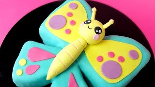 Kawaii Butterfly Cake! How to make a butterfly cake