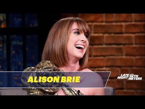 Alison Brie Put Her Cat in a Headlock