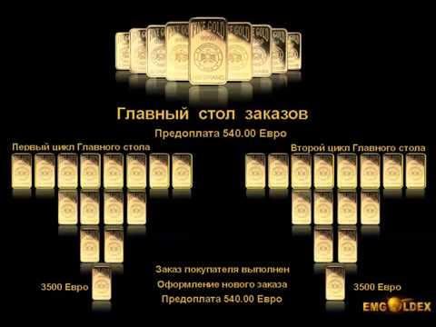 Как заработать золотые слитки с EMGOLDEX