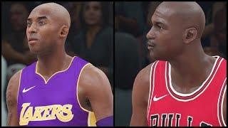 NBA 2K18 | Chicago Bulls All TIme Team vs LA Lakers All Time Team | Jordan/Pippen/Kobe/Magic, etc.