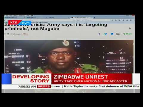 Zimbabwe's national broadcaster, ZBC military says it is taking over to target criminals
