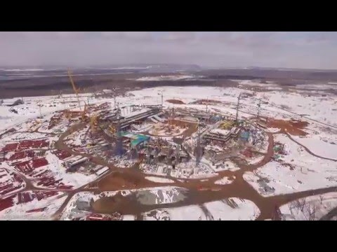 Aerial View of Construction of Samara Arena for 2018 FIFA World Cup