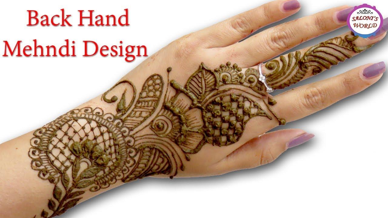 mehandi designs in back hand