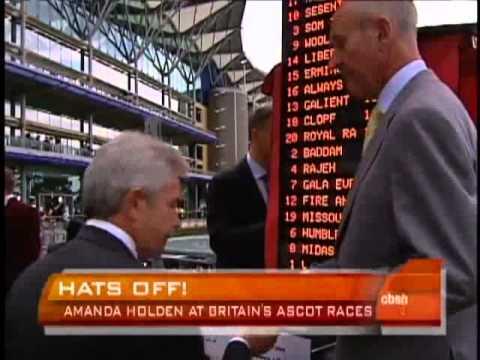 Gary and Bob with Amanda Holden at Royal Ascot
