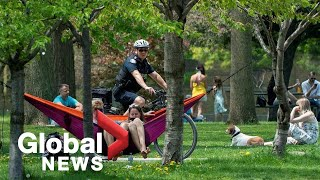 """Coronavirus outbreak: Overcrowding at Toronto park sparks fears of COVID-19 """"second wave"""""""