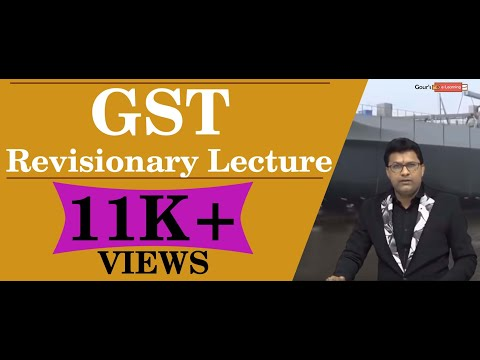 GST Revisionary Lecture - Exemption Of GST - CA Final IDT Nov 2018