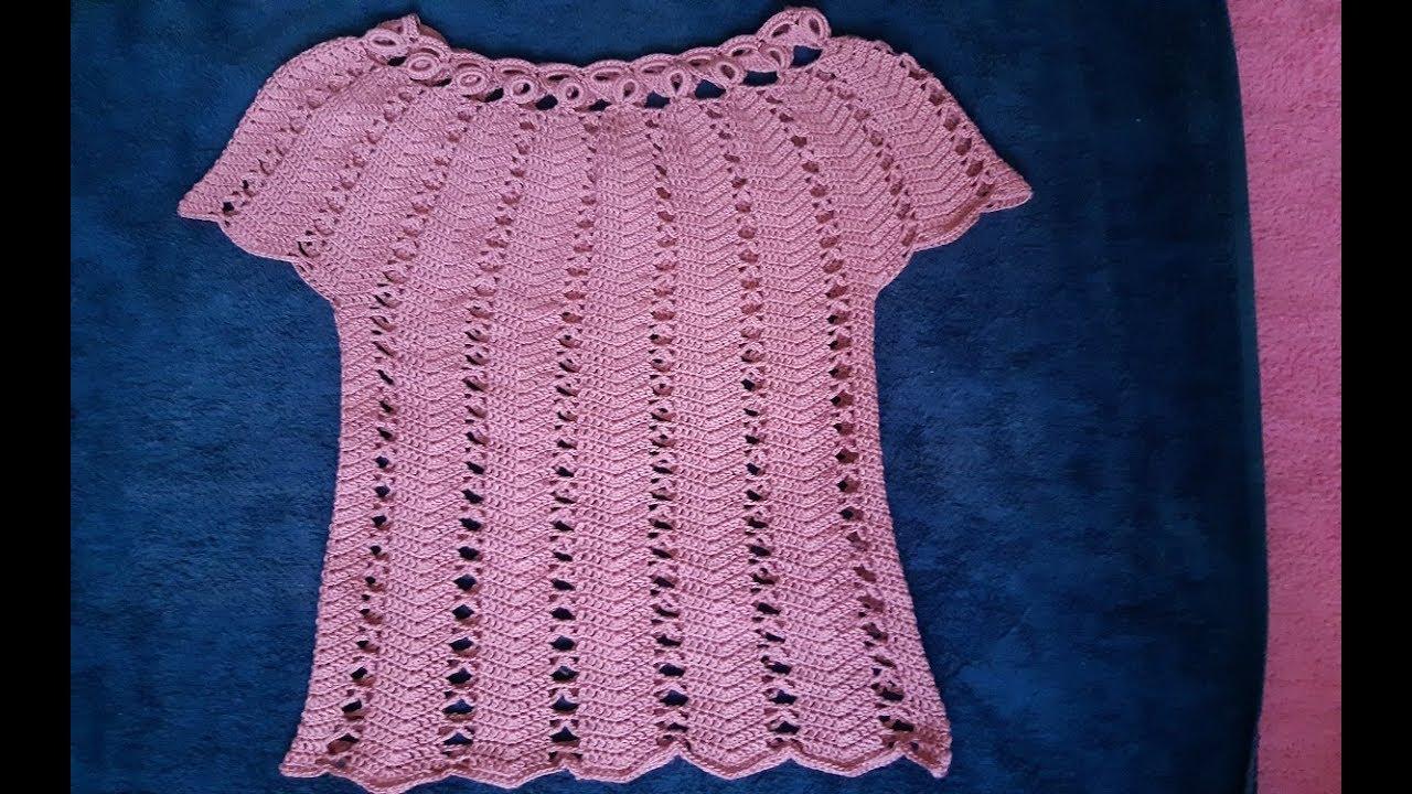 Blusa A Crochet Crochet Blouse En Toda Las Tallas Para Dama Parte 1 Youtube