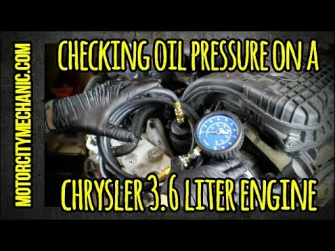 Checking Oil Pressure On A Chrysler 3 2 And 3 6 Liter