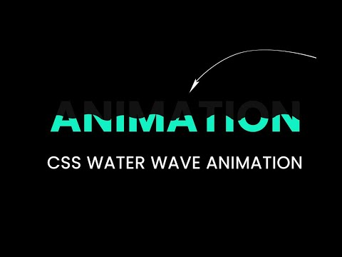 Wave Effect On Text | CSS Text filling Animation