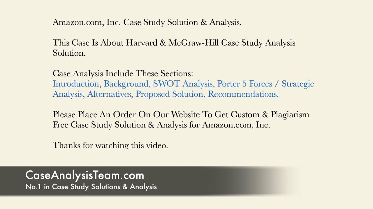 case study of amazon com