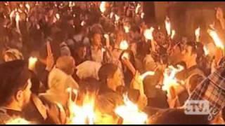 Благодатный огонь сошел в храме Гроба Господня(, 2011-04-23T14:23:13.000Z)