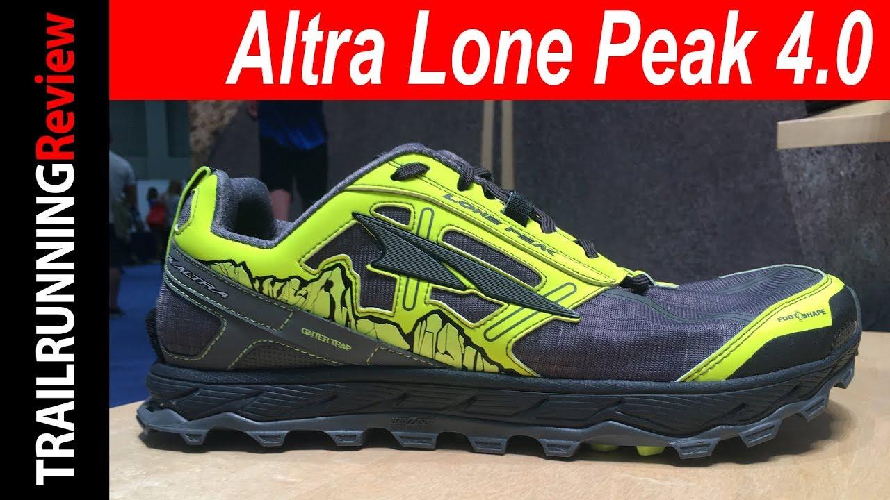 Altra Lone Peak 4.0 Preview - YouTube