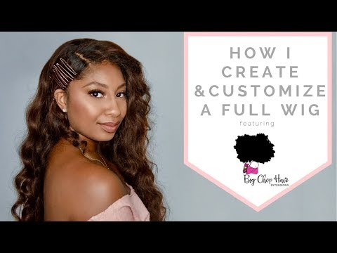How to Customize a Full Lace Wig | Big Chop Hair Extensions