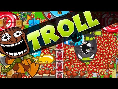 LATE GAME WITH A TROLL ::Bloons TD Battles::2 TIMES IN A ROW!
