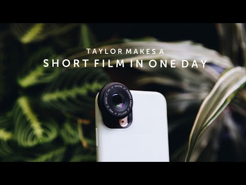 Taylor Makes A Short Film In One Day | LAST WEEK TO SUBMIT TO MIFF