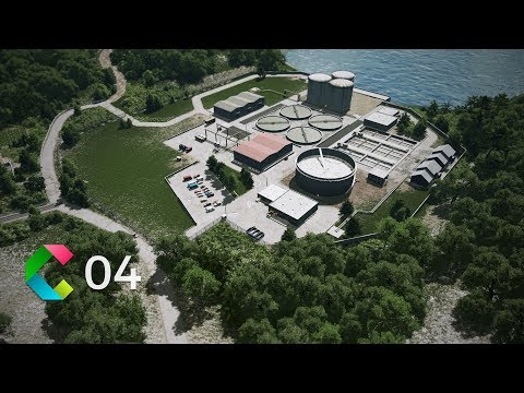 Cities: Skylines | Cleyra - 4 - Water Treatment Plant and Wind Energy Park