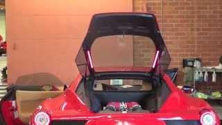 Ferrari 458 Italia engine bay with red led's