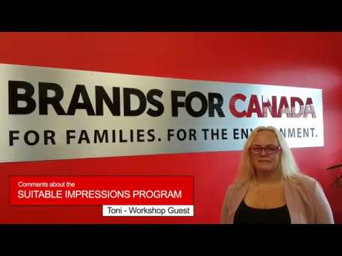 Brands For Canada - TONI comments on the Suitable Impressions Workshop