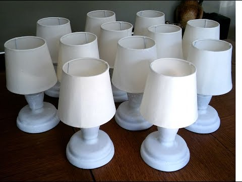 Bar / table lamp - making the lampshade from scratch - part 1 of 2
