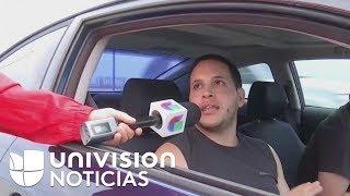 Puertorriqueños mandan mensajes a sus familiares en el exterior a través de las cámaras de Univision