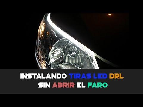 Instalando LUCES DRL AL CARRO (TIRAS LED) Sin Abrir El Faro!