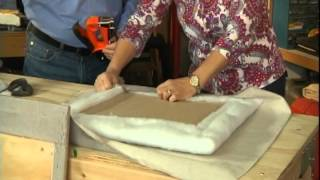 How To Make An Upholstered Headboard.avi