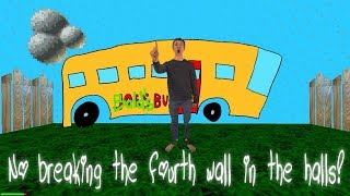 No breaking the fourth wall in the halls! Baldi's Basics thumbnail