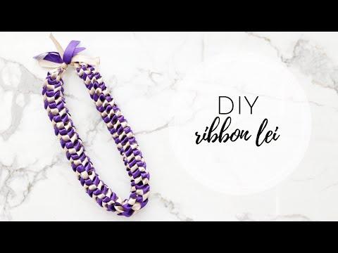 DIY Ribbon Lei (Graduation Lei)