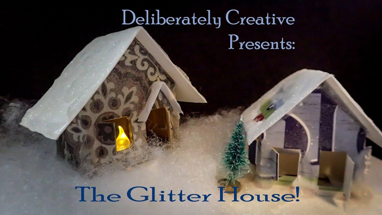 How to make Glitter Houses or Putz Houses #lovewinterart - YouTube