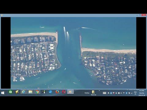 Orlando - Miami flight AA2443: Florida Gold Coast cities, inlet & beaches 2016-01-16