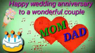 Happy Marriage Anniversary : Mom and Dad