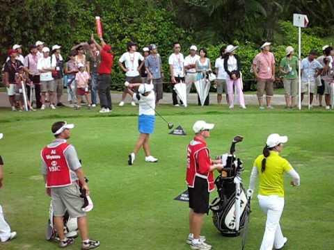 Golf Swing Miyazato Ai Driver shot at Singapore 2009