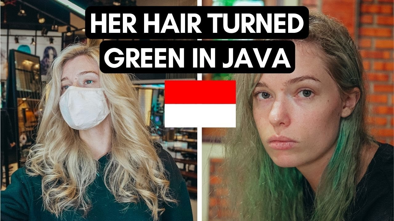 Her HAIR turned GREEN in INDONESIA 😭   ACCIDENT in JAVA   #Vlog 118